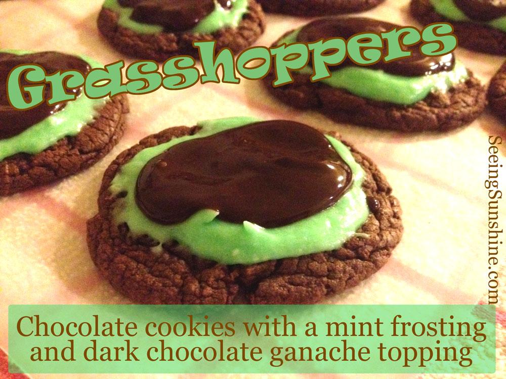 chocolate, cookie, mint, ganache, dark, holiday, grasshopper