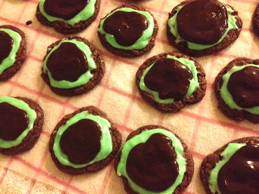 grasshopper, cookie, mint, chocolate