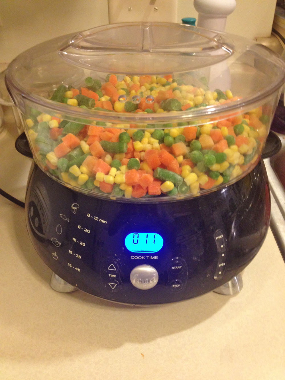 vegetables, mixed, steamer