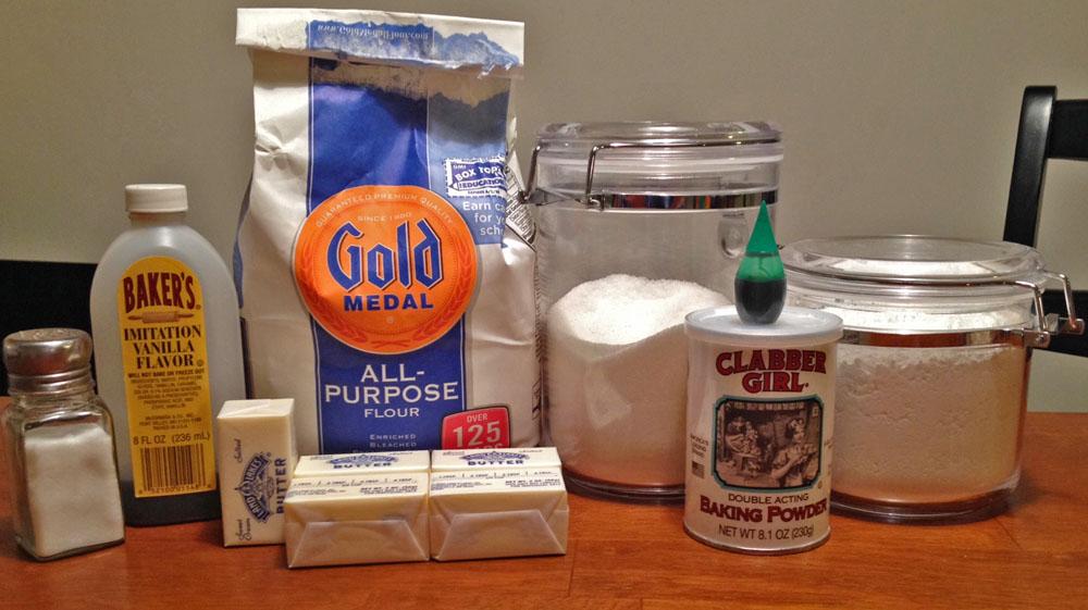 Swirl Sugar Cookies Ingredients