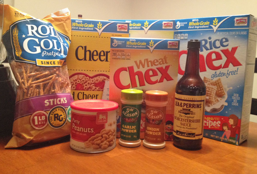 Ingredients for Chex Mix